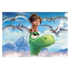 Puzzle 104 pièces : Le voyage d'Arlo : Le gentil dinosaure