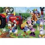 Puzzle 104 pièces : Mickey et ses amis à la ferme