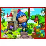 Puzzle 104 pièces : Mike le chevalier : A l'attaque !