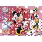 Puzzle 104 pièces : Minnie fait du shopping