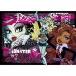 Puzzle 104 pièces : Monster High Trop fashion