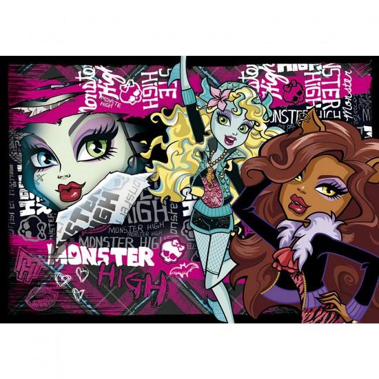 Puzzle 104 pièces : Monster High Trop fashion - Clementoni-27867