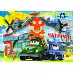 Puzzle 104 pièces : Planes : Dusty vs Skipper