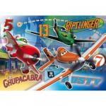 Puzzle 104 pièces : Planes : Ripslinger, Dusty et El Chupacabra