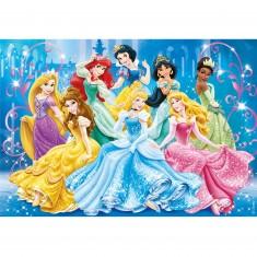 Puzzle 104 pièces : Princesses Disney : Brilliant Puzzle