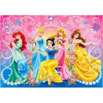 Puzzle 104 pièces : Princesses Disney : Jewels puzzle