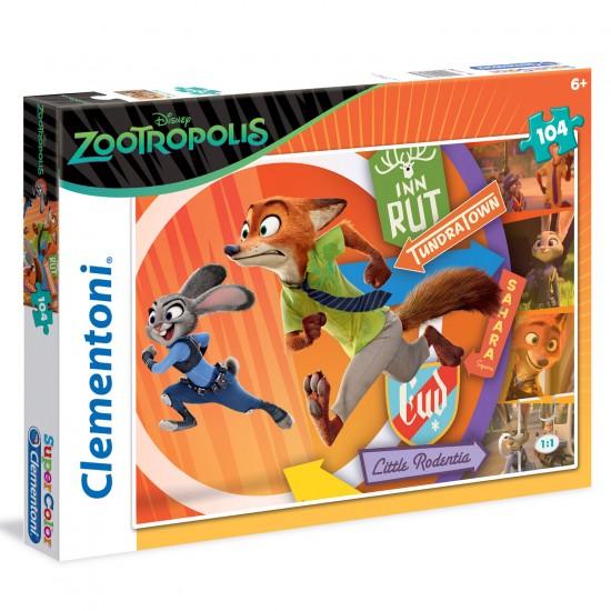 Puzzle 104 pièces : Zootopie - Clementoni-27968