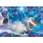 Puzzle 104 pièces Effet 3D : La Reine des Neiges Frozen