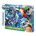 Puzzle 104 pièces Effet 3D : Max Steel