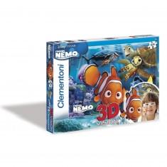 Puzzle 104 pièces Effet 3D : Némo