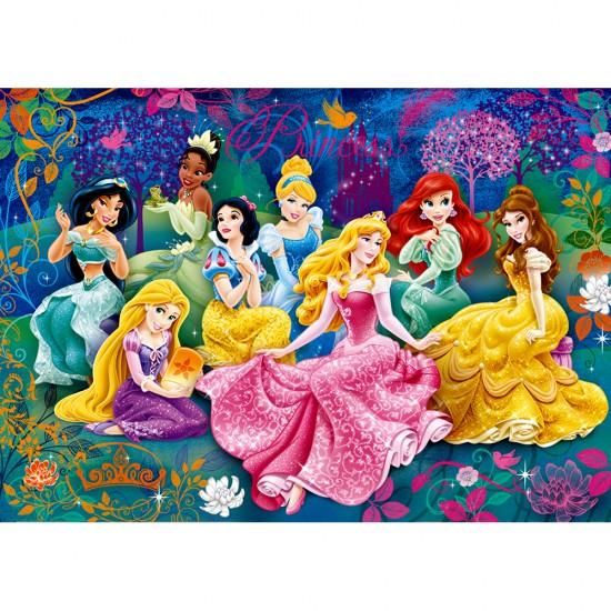 Puzzle 104 pièces Effet 3D : Princesses Disney - Clementoni-20090