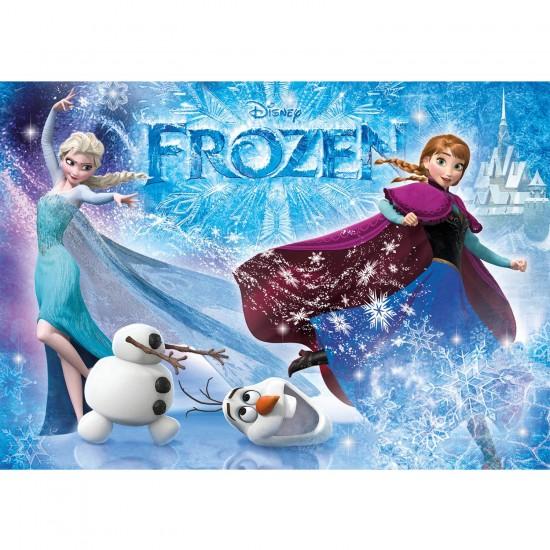 Puzzle 104 pièces Glitter : Frozen La Reines des Neiges - Clementoni-29712