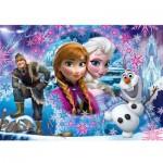 Puzzle 104 pièces Glitter : La Reines des Neiges Frozen