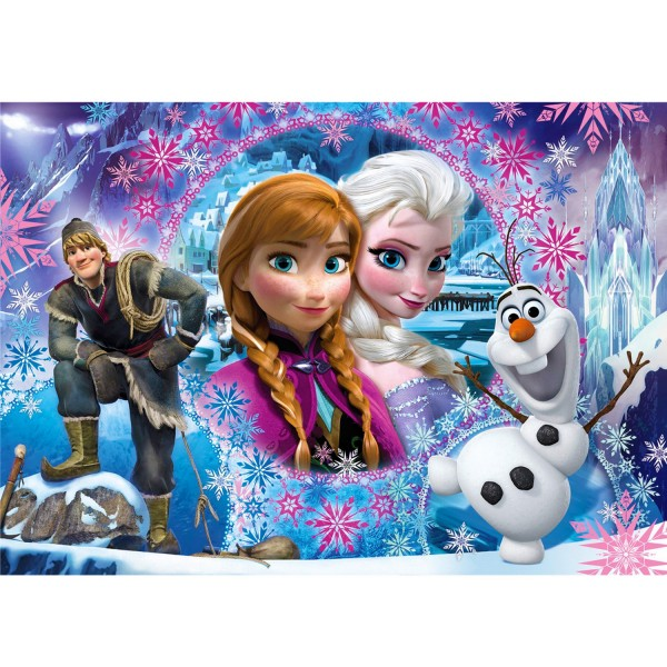 Puzzle 104 pièces Glitter : La Reines des Neiges Frozen - Clementoni-27248