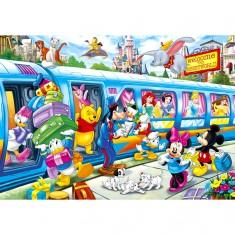Puzzle 104 pièces maxi : Disney Family