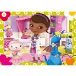 Puzzle 104 pièces maxi : Docteur la peluche : L'amitié est le meilleur remède