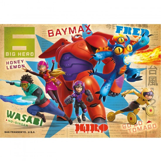 Puzzle 104 pièces maxi : Les Nouveaux Héros Big Hero 6 - Clementoni-23672