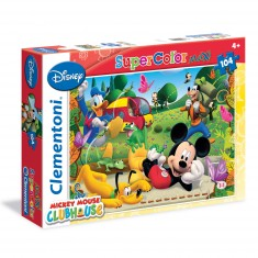 Puzzle 104 pièces Maxi : Mickey Club House