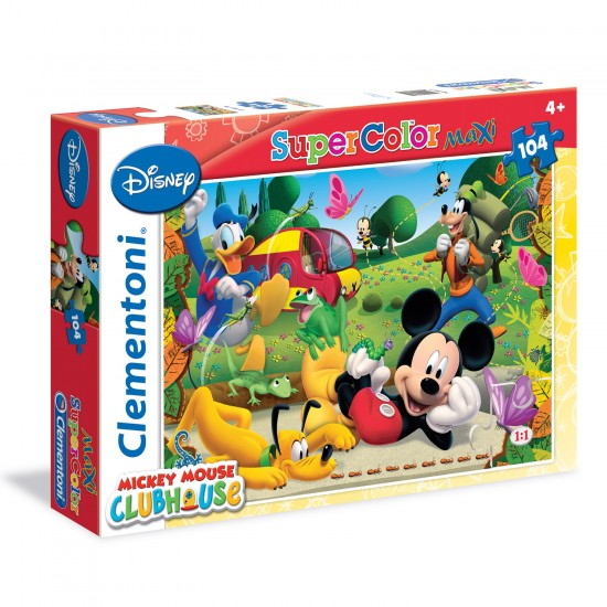 Puzzle 104 pièces Maxi : Mickey Club House - Clementoni-23974