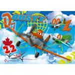 Puzzle 104 pièces maxi : Planes : Dusty, Zed et Ned