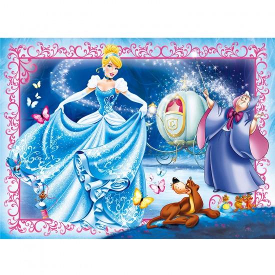 Puzzle 104 pièces maxi : Princesses Disney : Cendrillon - Clementoni-23671