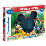 Puzzle 104 pièces Message : Mickey Mouse Club House