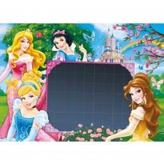 Puzzle 104 pièces Message : Princesses Disney