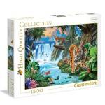 Puzzle 1500 pièces : Famille de tigre