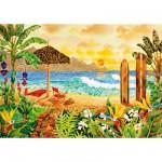 Puzzle 1500 pièces : Le paradis des surfeurs