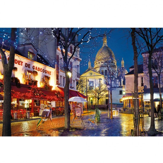 puzzle 1500 pi ces montmartre paris puzzle clementoni rue des puzzles. Black Bedroom Furniture Sets. Home Design Ideas