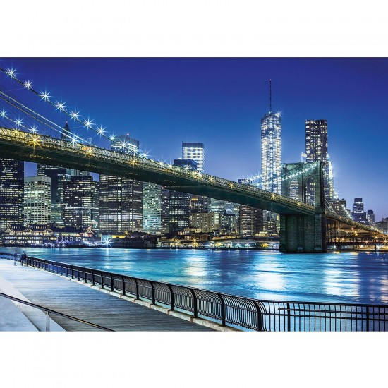 Puzzle 1500 pièces : New York by Night - Clementoni-31804