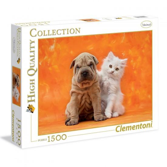 Puzzle 1500 pièces : So Cute - Clementoni-31634
