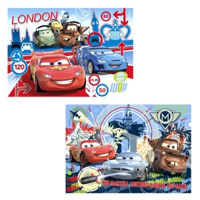 puzzle 2 x 20 pi ces cars 2 course autour du monde jeux et jouets clementoni avenue des jeux. Black Bedroom Furniture Sets. Home Design Ideas