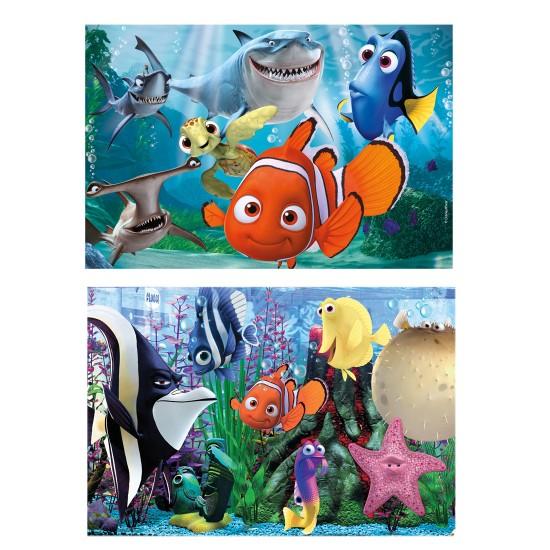 Puzzle 2 x 20 pièces : Le monde de Nemo - Clementoni-24613-Nemo