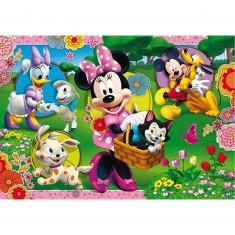 Puzzle 2 x 20 pièces : Minnie et ses amis