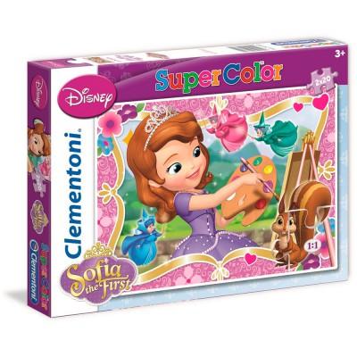 Puzzle 2 x 20 pièces : Princesse Sofia - Clementoni-24730