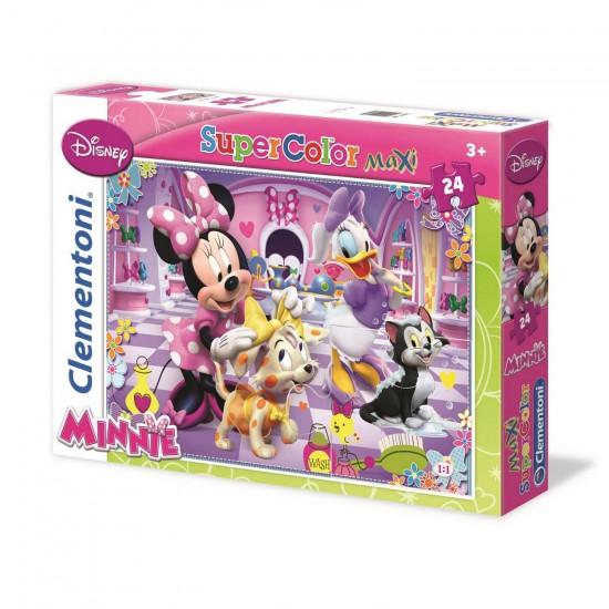 Puzzle 2 x 20 pièces : Super Color : Minnie et Daisy - Clementoni-24604-24613-4