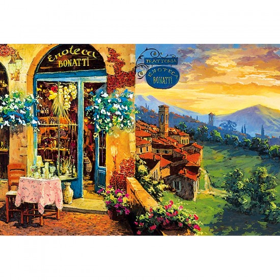 Puzzle 2000 pièces : Enoteca Bonatti - Clementoni-32552