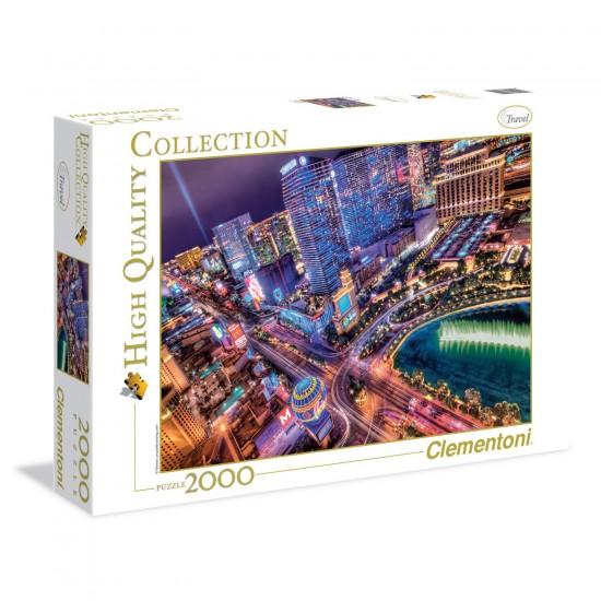 Puzzle 2000 pièces : Las Vegas - Clementoni-32555
