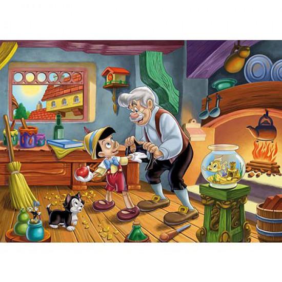 Puzzle 24 pièces maxi - Pinocchio et Gepetto - Clementoni-24358