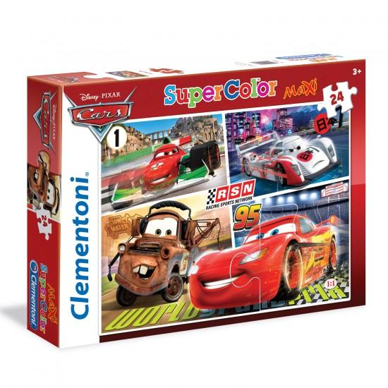 Puzzle 24 pièces Maxi : Cars - Clementoni-24470