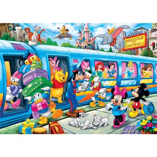 Puzzle 24 pièces maxi : Disney Train - Clementoni-24464