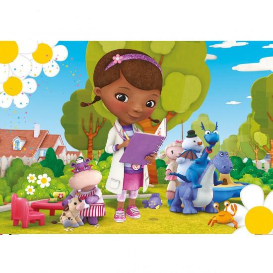 Puzzle 24 pièces maxi : Docteur la peluche : Dans le jardin - Clementoni-24445