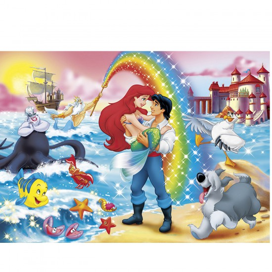 Puzzle 24 pièces maxi : La Petite Sirène et l'arc en ciel - Clementoni-24431