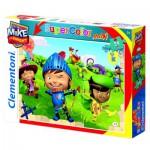 Puzzle 24 pièces maxi : Mike le chevalier : Tir à l'arc
