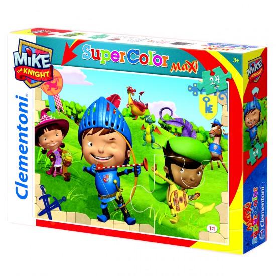 Puzzle 24 pièces maxi : Mike le chevalier : Tir à l'arc - Clementoni-24451