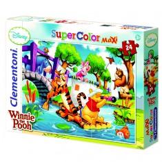Puzzle 24 pièces maxi : Winnie l'ourson : Sur la rivière