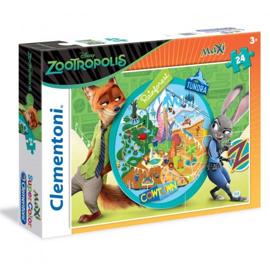 Puzzle 24 pièces Maxi : Zootopie - Clementoni-24059