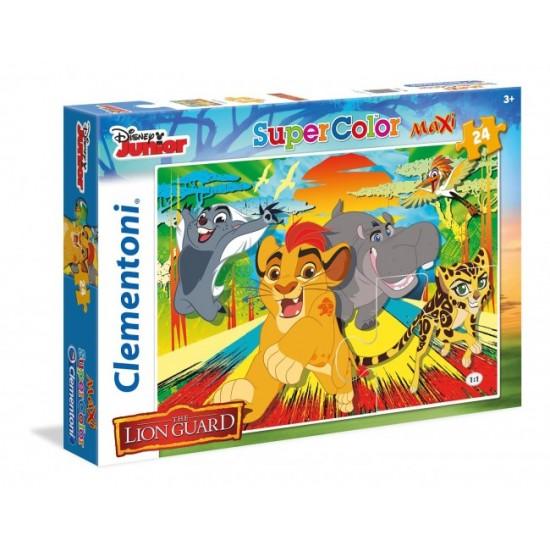 Puzzle 24 pièces Maxi La Garde du Roi Lion - Clementoni-24056