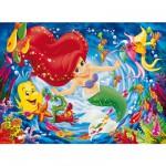 Puzzle 250 pièces - Princesses Disney : Ariel et ses amis